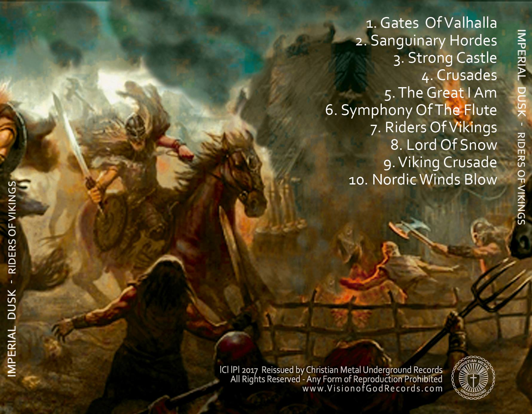 Imperial Dusk Riders Of Vikings Cd Vision Of God Records